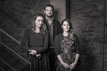 Actor Aoife Spratt (L), Writer/ Director Tom Ryan, Producer Claire Gormley (R)