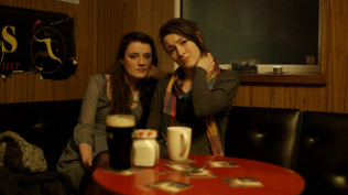 Maggie Donovan and Aoife Spratt as Jenny and Angie.